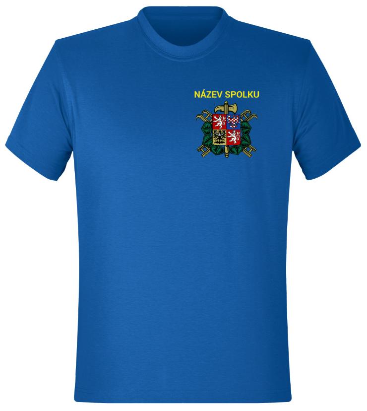 5f64e293906 Hasičské tričko - varianta 1 Tričko pro hasiče se znakem a názvem spolku